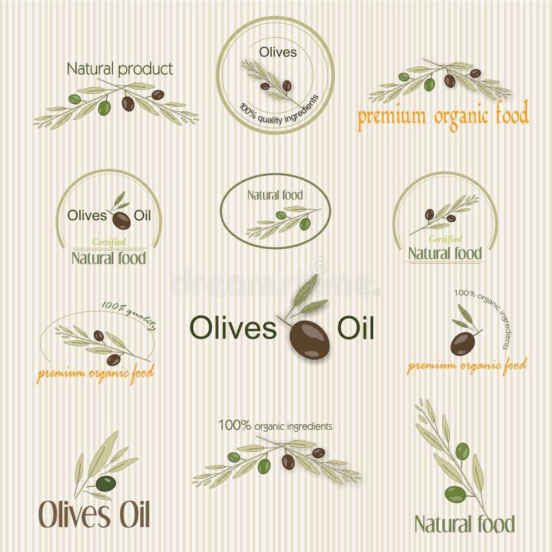 Ilustração do alimento biológico, vetor ilustração stock