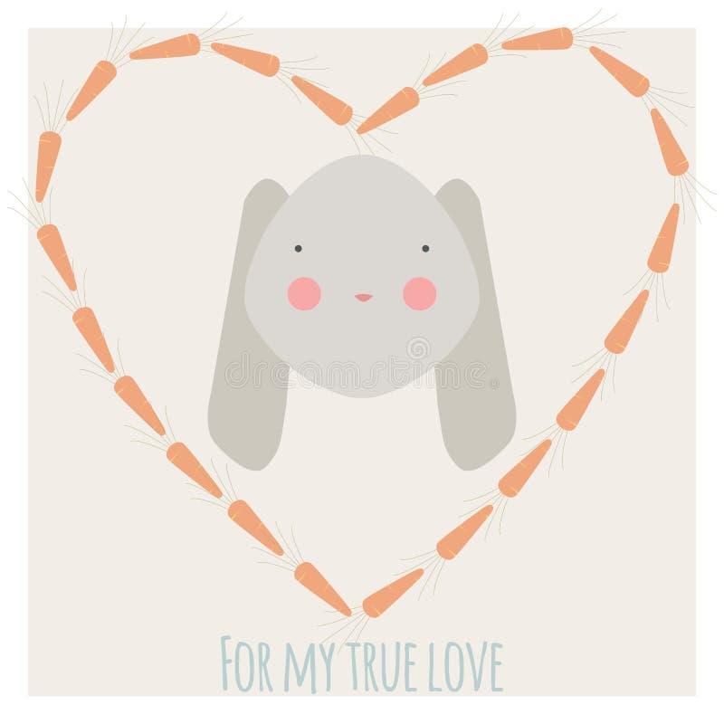 Ilustração do amor do coelho ilustração royalty free