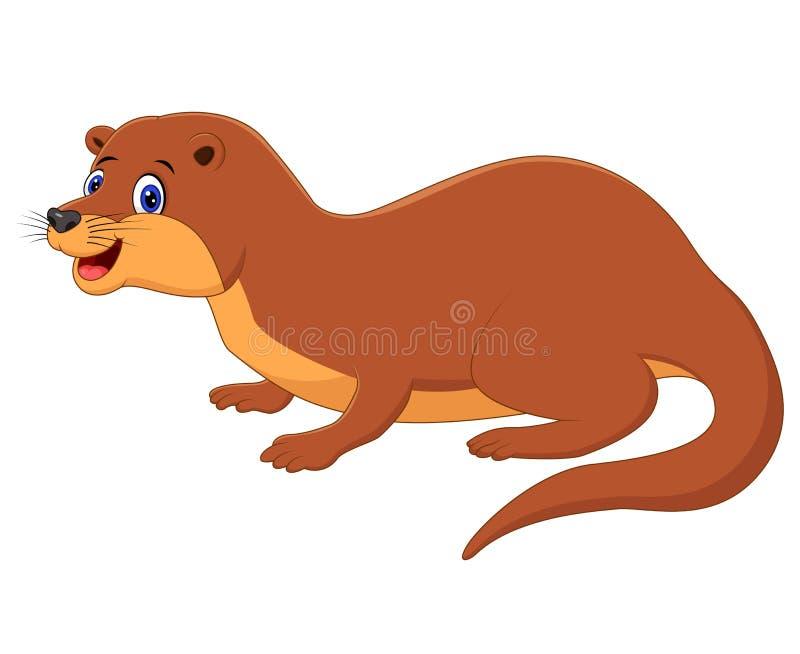 Ilustração do animal bonito da doninhas ilustração stock