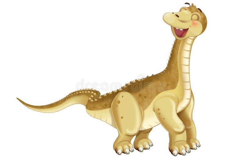 Ilustração do apatosaurus do diplodocus do dinossauro dos desenhos animados para crianças ilustração stock