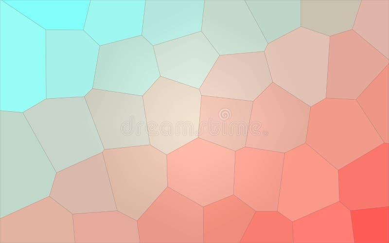 Ilustração do aqua e do fundo gigante pastel vermelho do hexágono ilustração do vetor