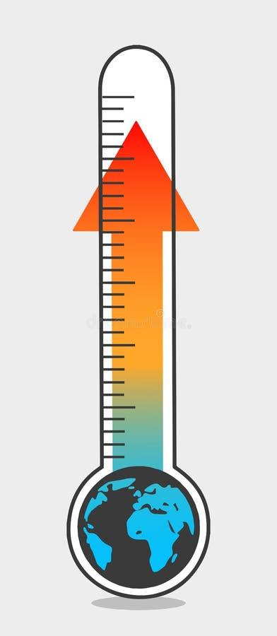 Ilustração do aquecimento global ilustração do vetor
