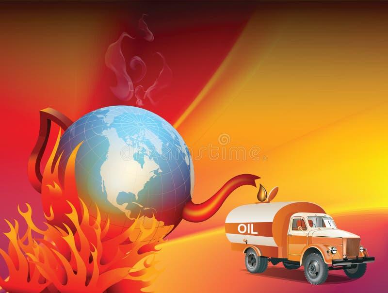 Ilustração do aquecimento global e da mudança de clima ilustração royalty free
