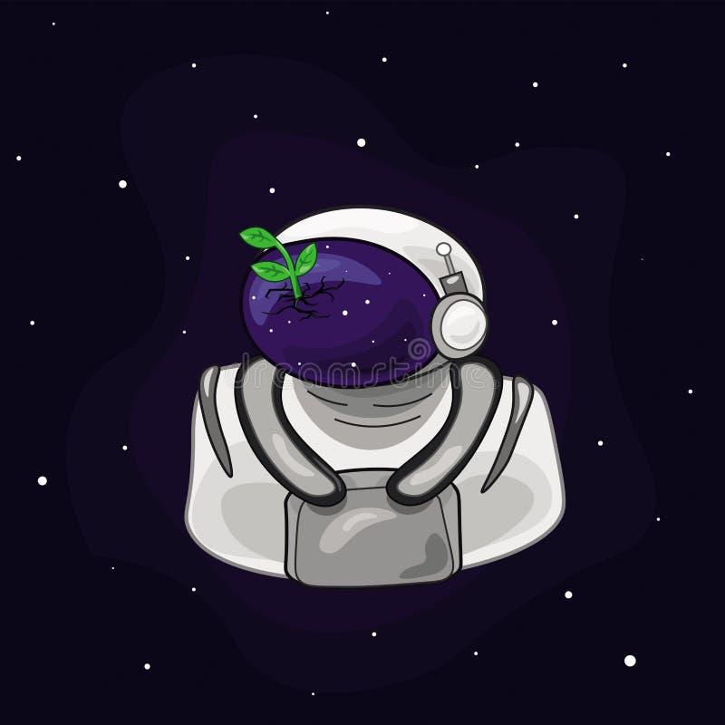 Ilustração do astronauta do espaço fotos de stock royalty free