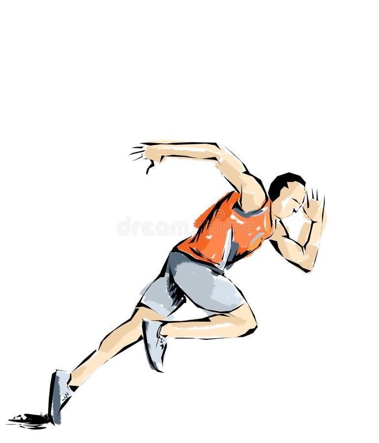 Ilustração do atletismo, atleta que pratica esportes ilustração do vetor