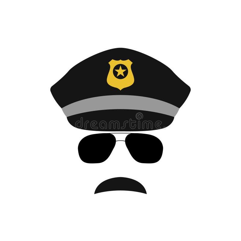Ilustração do avatar do agente da polícia ilustração stock