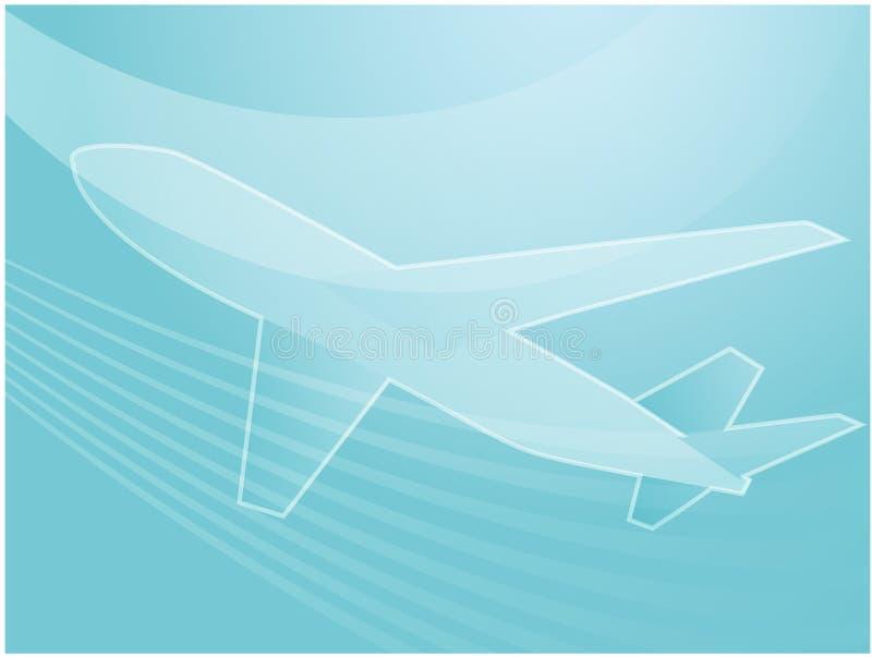 Ilustração do avião da viagem aérea ilustração stock