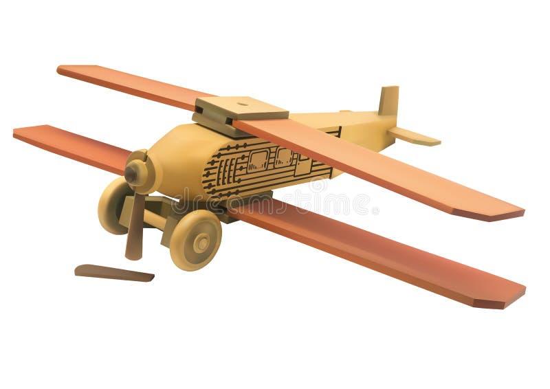 Ilustração do avião quebrado de madeira velho do brinquedo ilustração stock