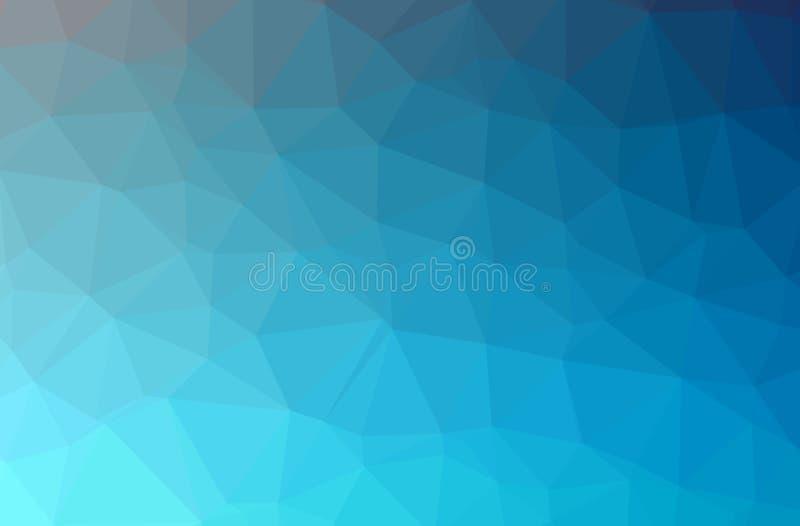 Ilustração do azul abstrato, baixo fundo poli horizontal verde Teste padrão bonito do projeto do polígono ilustração do vetor