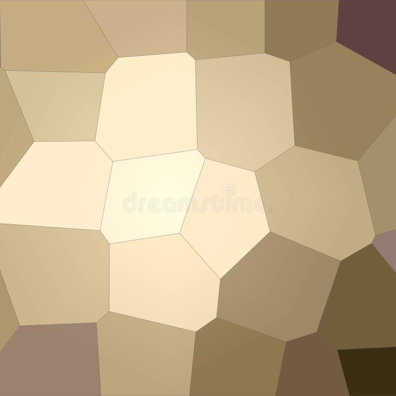 Ilustração do azul quadrado e do fundo gigante pastel marrom do hexágono ilustração stock