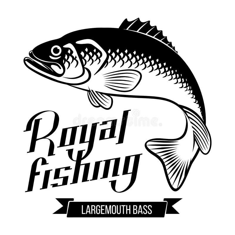 Ilustração do baixo Largemouth ilustração royalty free