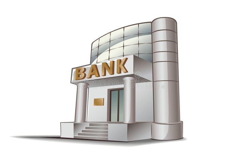 Ilustração do banco ilustração stock