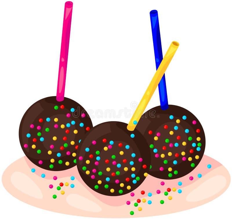 Bastão do chocolate ilustração do vetor