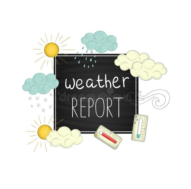 Ilustração do boletim meteorológico do vetor ilustração do vetor