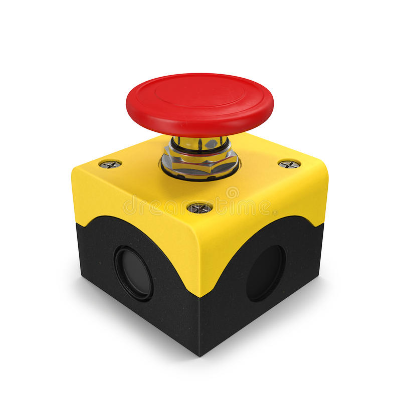 Ilustração do botão vermelho 3d ilustração royalty free