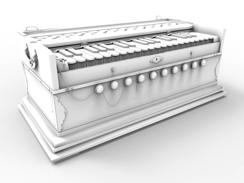 Ilustração do branco do harmônio ilustração do vetor