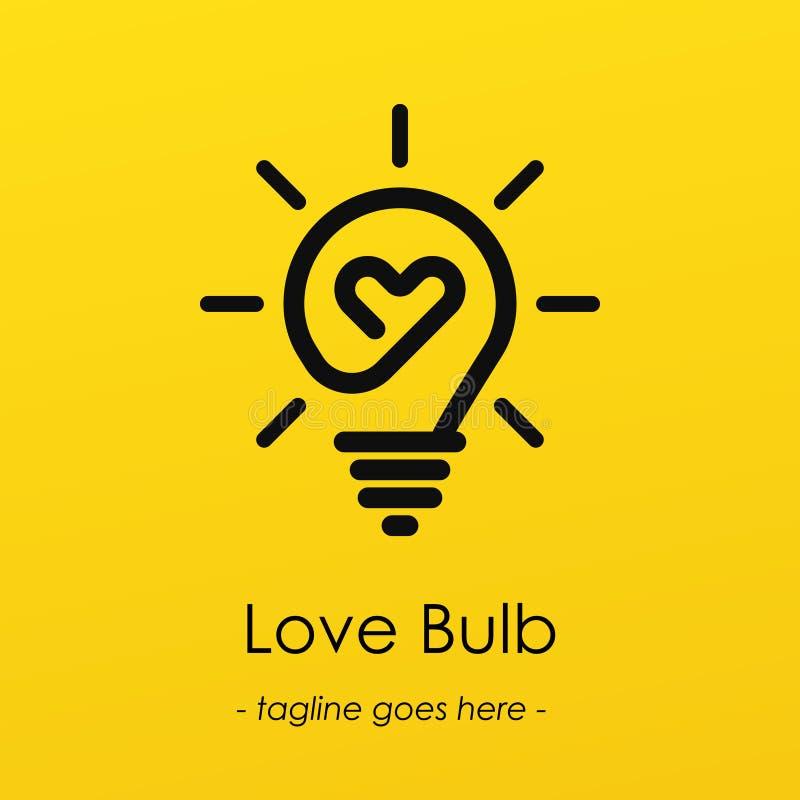 Ilustração do bulbo do amor ilustração royalty free