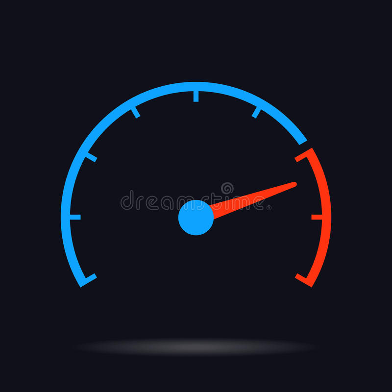 Ilustração do círculo do vetor do teste de velocidade ilustração do vetor