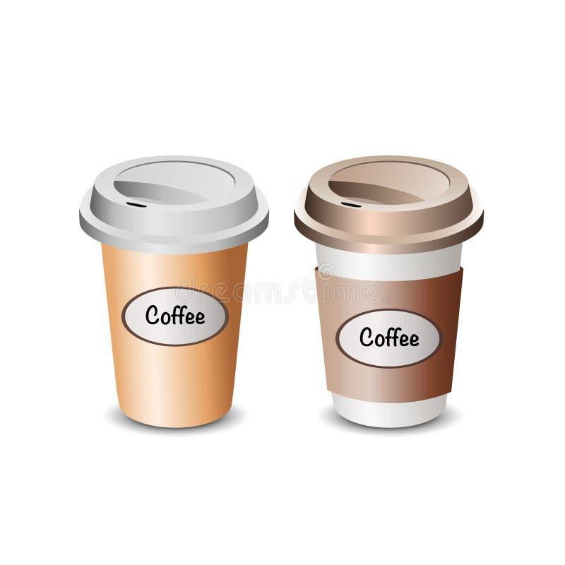 Ilustração do café do copo fotos de stock royalty free