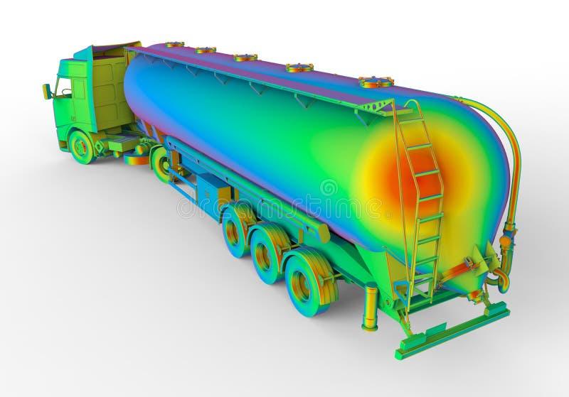Ilustração do caminhão de tanque do arco-íris ilustração do vetor