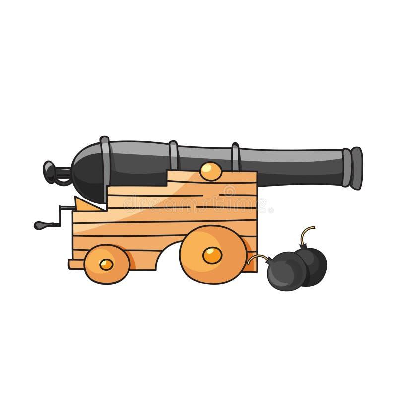 Ilustração do canhão enorme ilustração royalty free