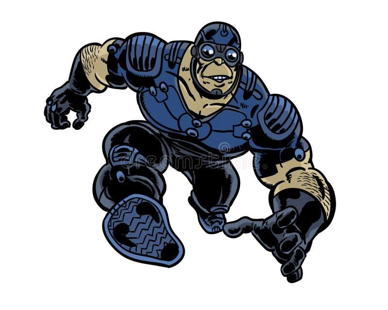 Ilustração do caráter da banda desenhada do herói do feijão de salto ilustração royalty free