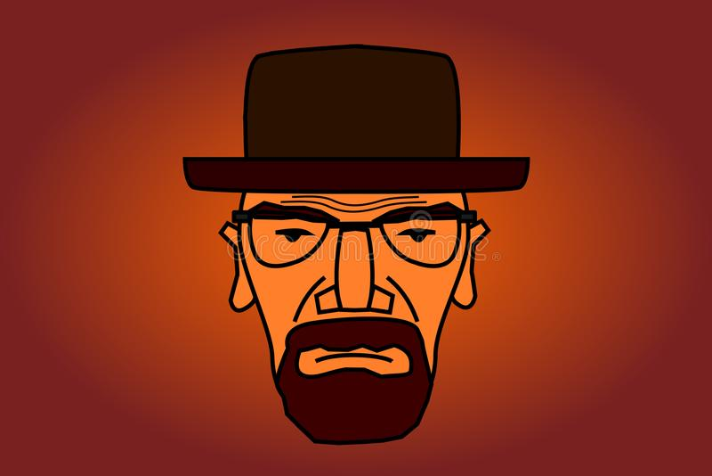 Ilustração do caráter de Heisenberg ilustração stock
