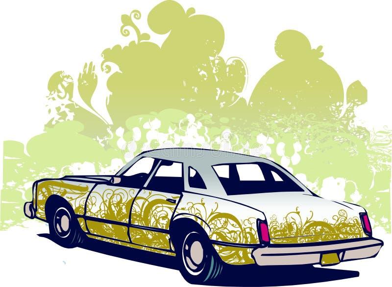 Ilustração do carro dos grafittis ilustração royalty free