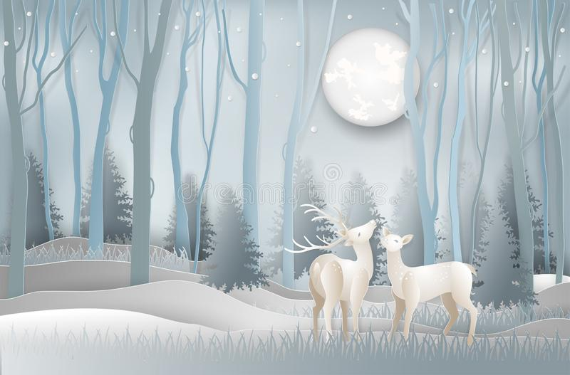 Ilustração do cartão c do dia do Feliz Natal e do ano novo ilustração stock