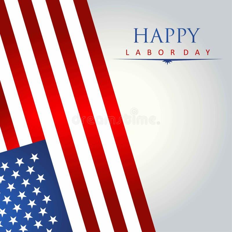 ilustração do cartão com a bandeira americana para o Dia da Independência ilustração do vetor
