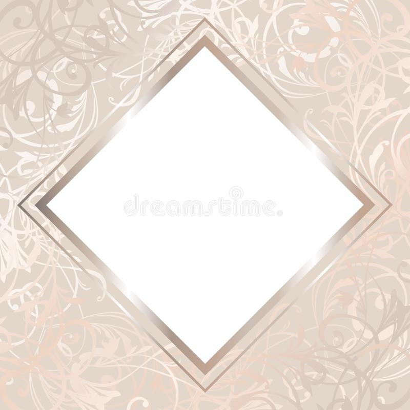 Ilustração do cartão de casamento John e Lilly Invitation no vetor Molde nupcial do chuveiro ilustração do vetor