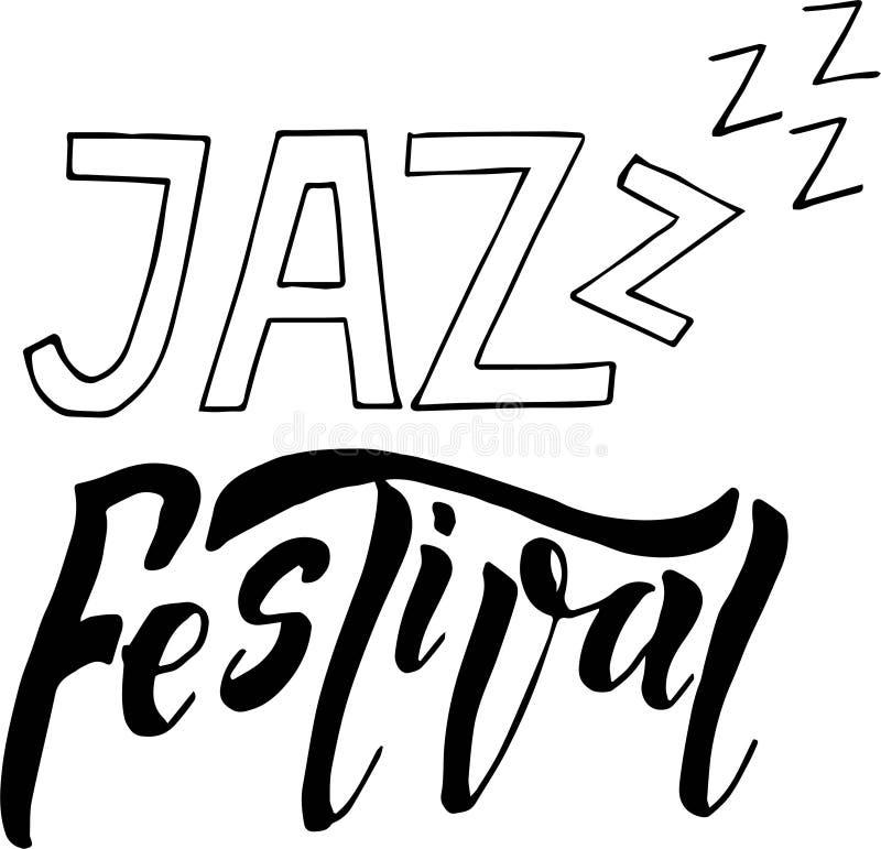 Ilustração do cartaz da bandeira do festival de música jazz Ilustra??o do desenho da m?o ilustração royalty free