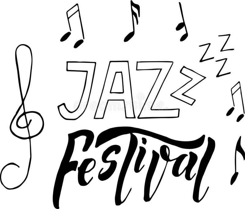 Ilustração do cartaz da bandeira do festival de música jazz ilustração do vetor