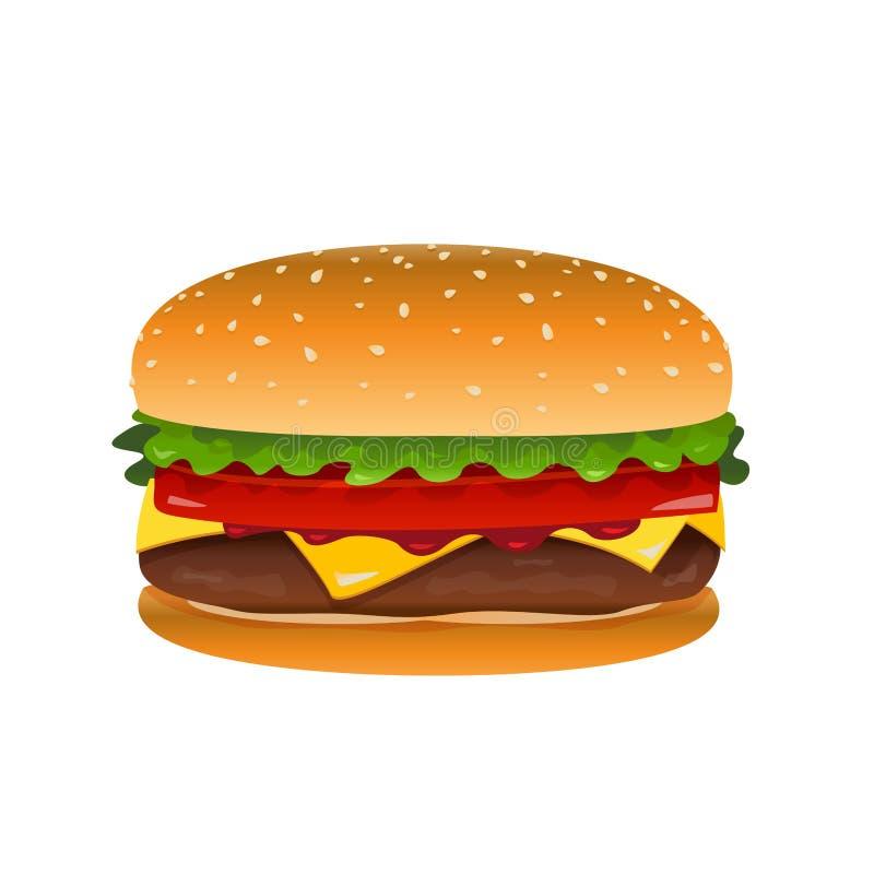 Ilustração do clipart do Hamburger do vetor ilustração do vetor