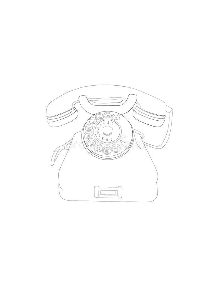 Ilustração do clipart do telefone ilustração do vetor