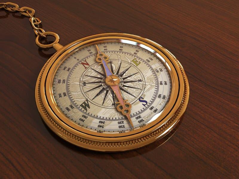 Ilustração do compasso 3D foto de stock royalty free