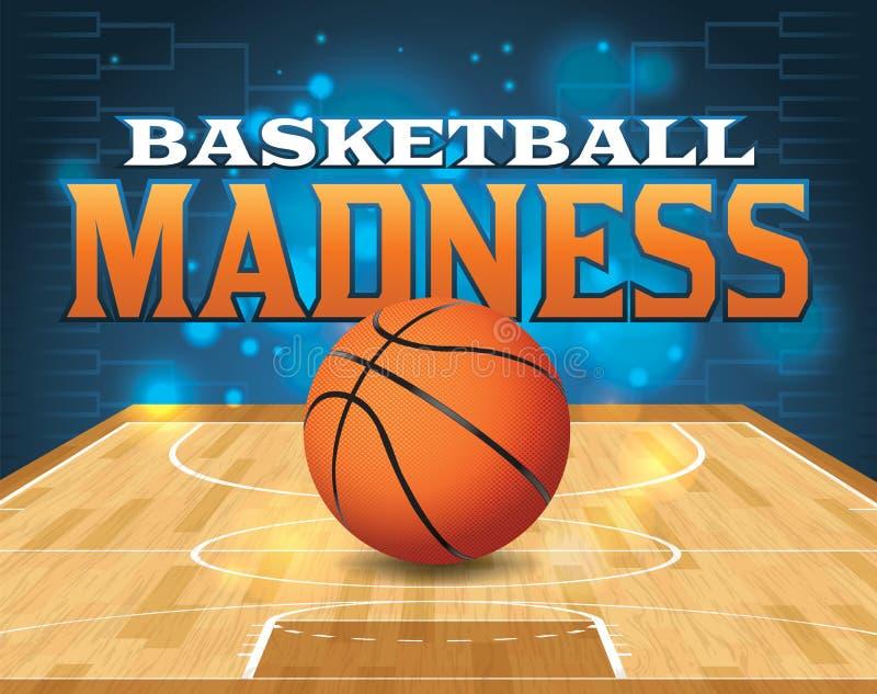 Ilustração do competiam do basquetebol ilustração stock