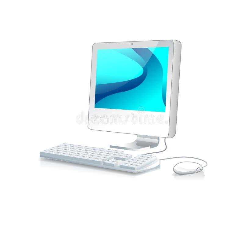 Ilustração do computador de secretária ilustração do vetor
