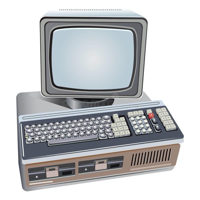 Ilustração do computador retro isolado ilustração do vetor