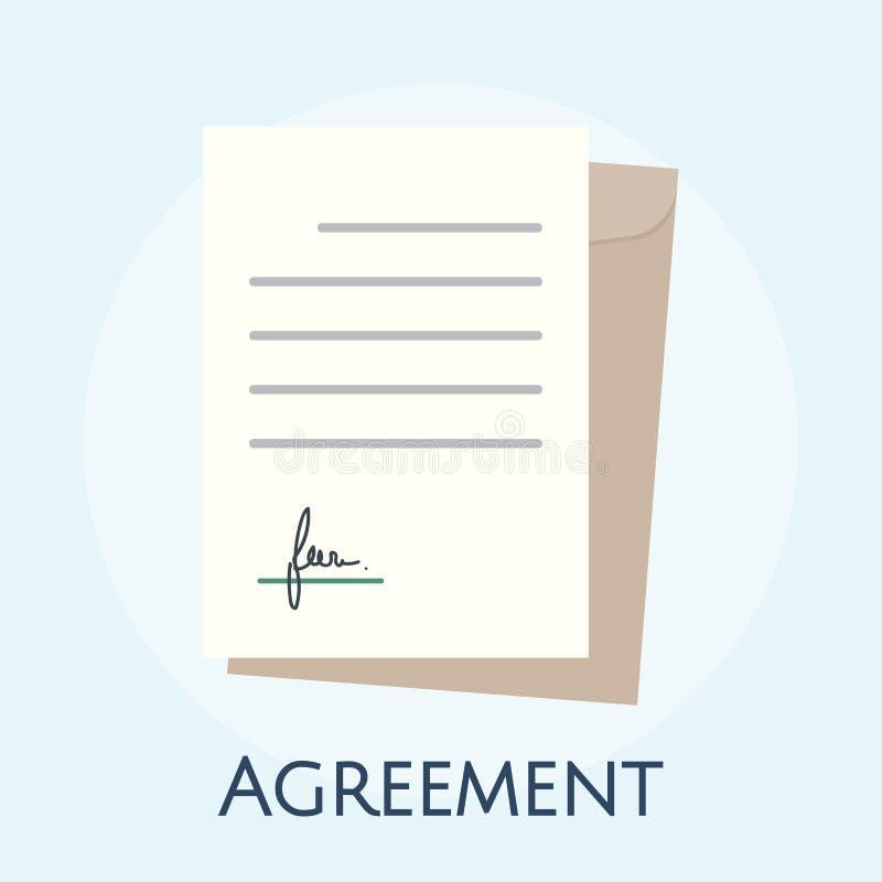 Ilustração do conceito do acordo do negócio ilustração do vetor