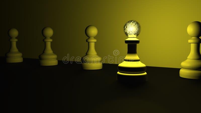 Ilustração do conceito 3D da liderança do penhor ilustração do vetor