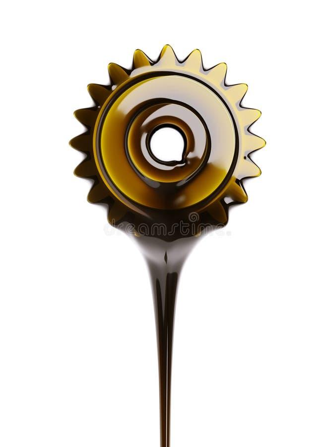 Ilustração do conceito 3d da mudança de óleo ilustração do vetor