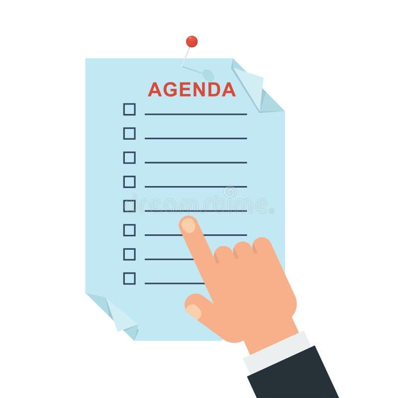 Ilustração do conceito da agenda ilustração royalty free
