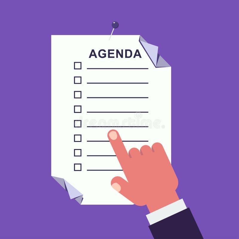 Ilustração do conceito da agenda ilustração stock