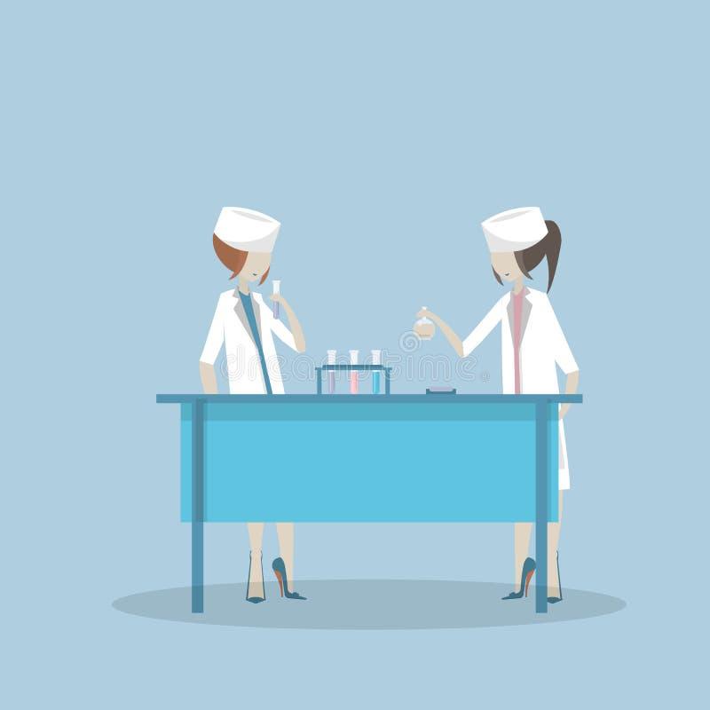 Ilustração do conceito da ciência, laboratório do vetor ilustração stock