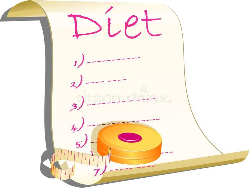 Ilustração do conceito da dieta ilustração stock