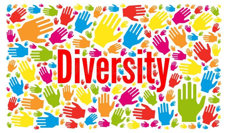 Ilustração do conceito da diversidade ilustração royalty free