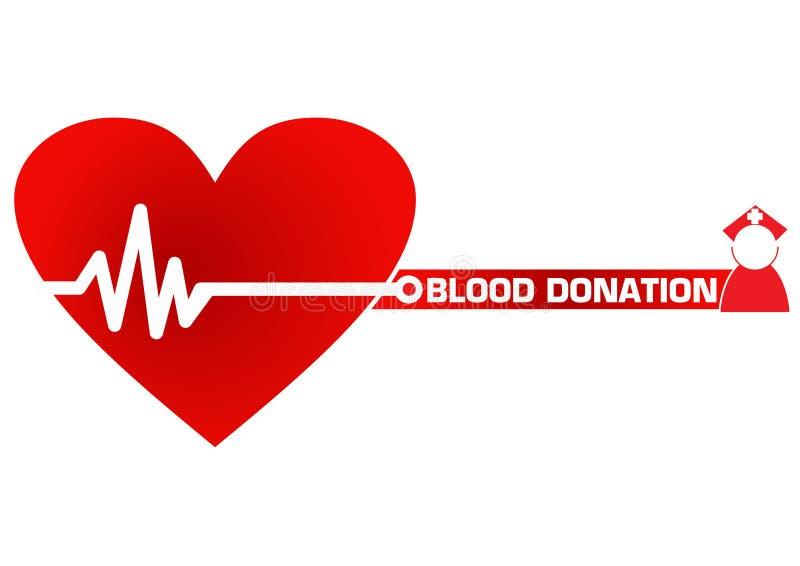 Ilustração do conceito da doação de sangue ilustração do vetor