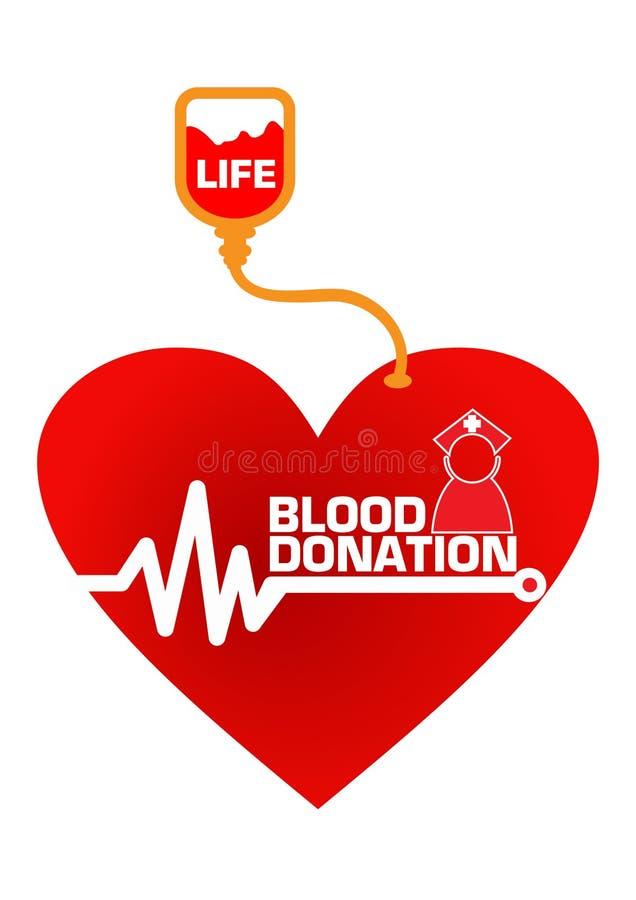Ilustração do conceito da doação de sangue
