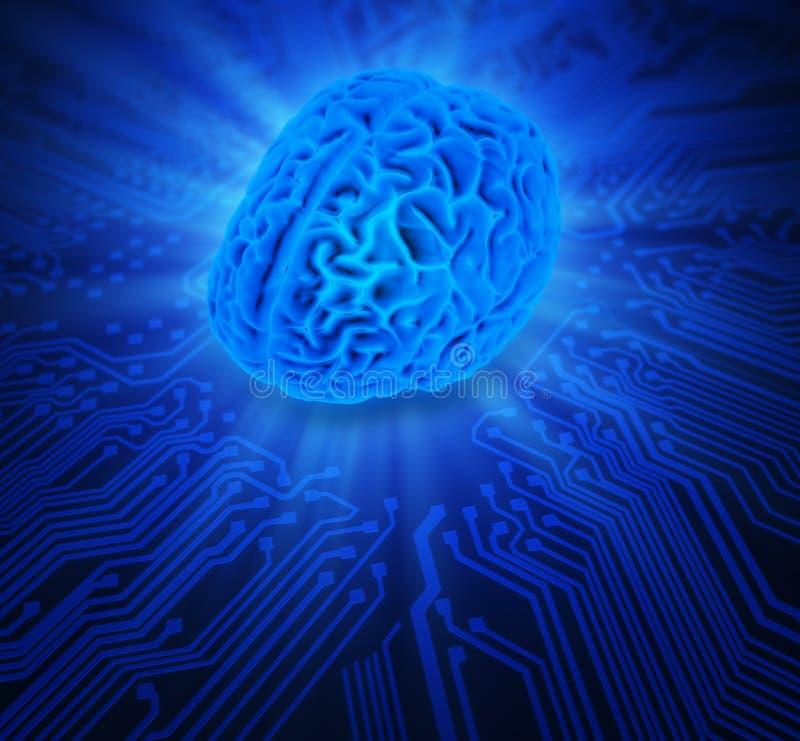 Ilustração do conceito da inteligência artificial ilustração royalty free